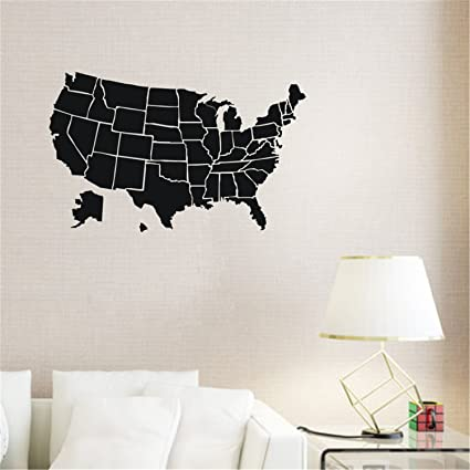 aooyaoo kid wall vinyl sticker decals decor for usa map