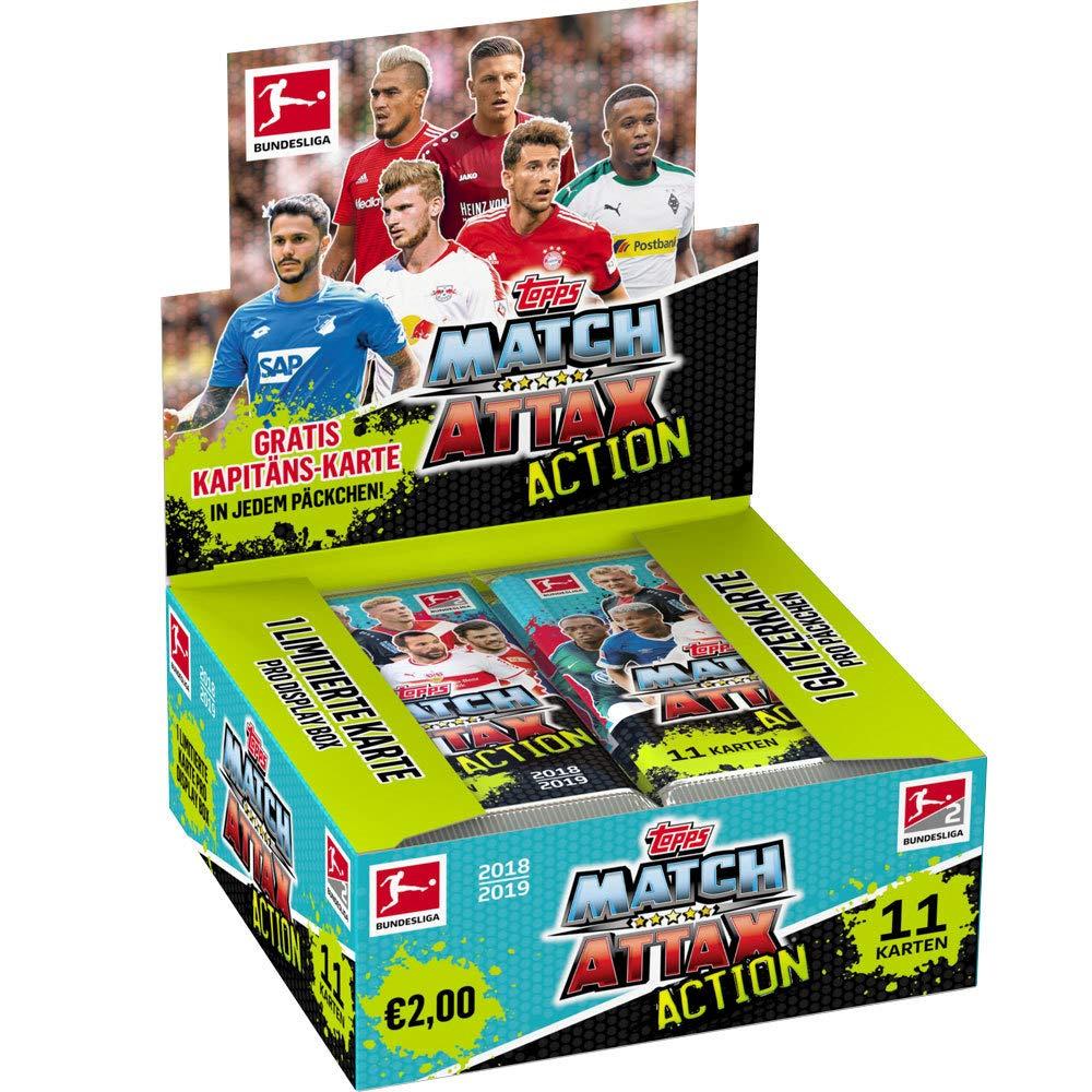 Unbekannt Topps Match Attax Action 2018/19 - 1 Display (20 Booster) - Deutsch