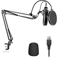 Neewer USB200 Microfoon Kit 192KHz/24Bit Plug & Play Cardioid Condensator Mic met Professionele Geluid Chipset, Arm…