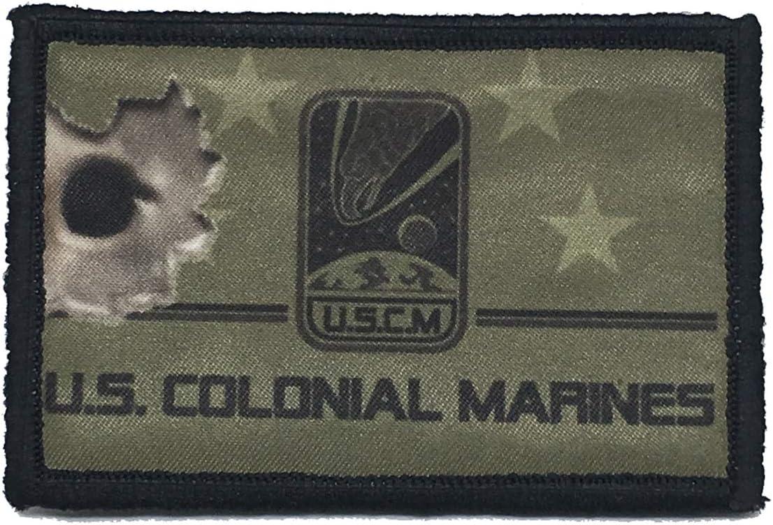 Parche militar táctico de la película de Aliens Colonial Marines con cierre de velcro de 5,08 x 7,62 cm, fabricado en los Estados Unidos, perfecto para tu mochila, mochila, bolso, equipo Molle,
