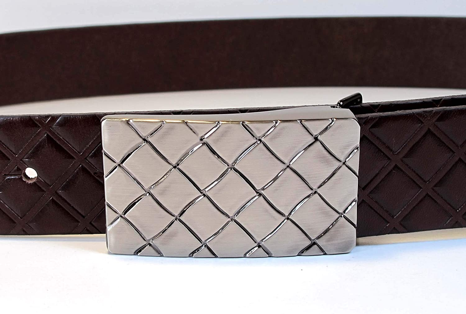 Mens Real Genuine Leather Belt Black Brown White 1.25 Wide S-L Casual Jeans CA4