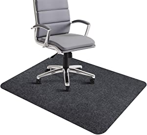 "Office Chair Mat, Desk Chair Mat for Hardwood Floors, 1/6"" Thick 35""x55"" Hard Floor Mat for Office, Multi-Purpose Protector Chair Carpet for Home (Dark Gray)"