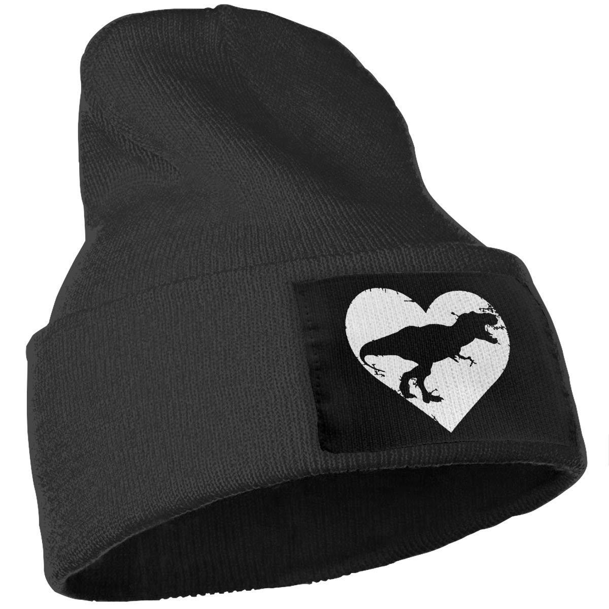 Men /& Women Funny Cute T Rex Dinosaur Heart Outdoor Fashion Knit Beanies Hat Soft Winter Knit Caps