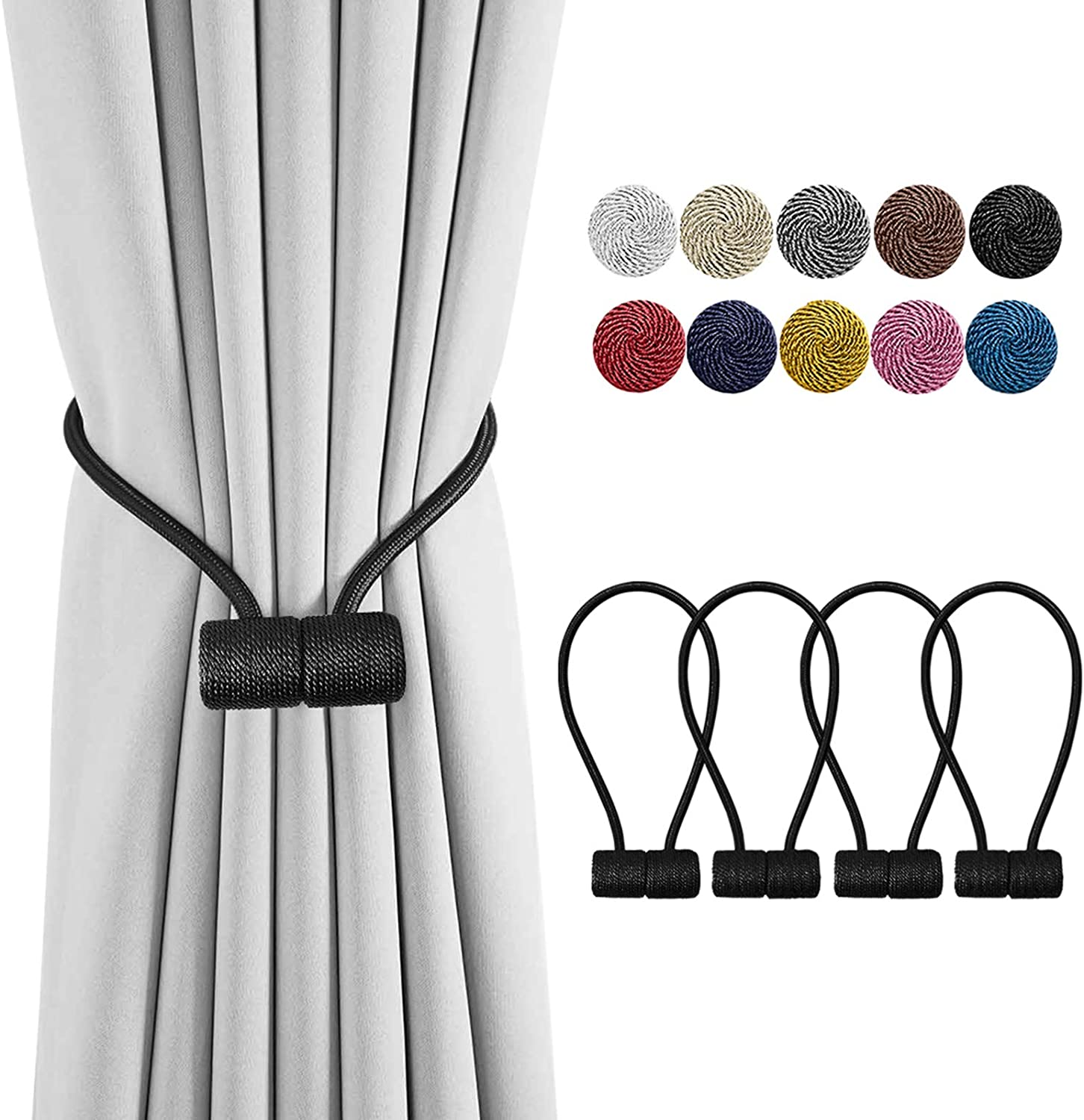 Magnetic Tassel Holdback Curtain Blind Accessories 5 Colors Home Office Decor