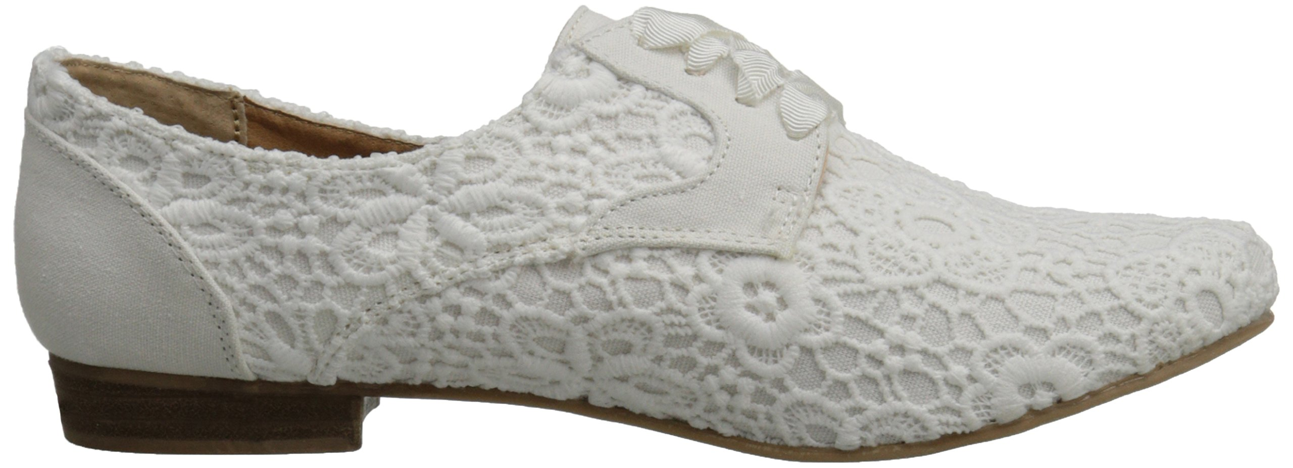 Not Rated Women's Eagle Eye Oxford, White, 7 M US by Not Rated (Image #7)