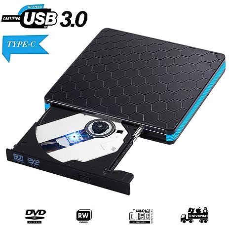 AOKUP Grabadora DVD Externa USB 3.0 Lector de CD Externa Unidad Óptica Externa de CD/