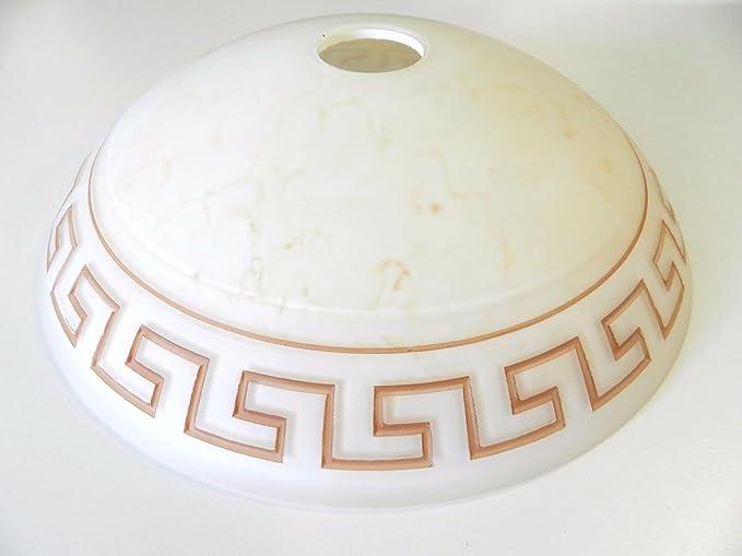 Plafoniere In Vetro Per Lampadari : Vetro ricambio per lampada lampadario plafoniera satinato panna
