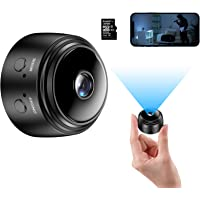 Mini Camera with 32G SD Card, Wireless WiFi Small Camera 1080P HD Home Security Surveillance Cameras with Night Vision…