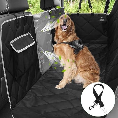 Philorn 6 Lagen Autoschondecke Für Hunde Mit Seitenschutz 100 Wasserdichte Kratzfest Rutschfeste Kofferraumdecke Für Hunde Hundedecke Für Rücksitz Für Auto Van Suv Frei Sicherheitsgurt Haustier