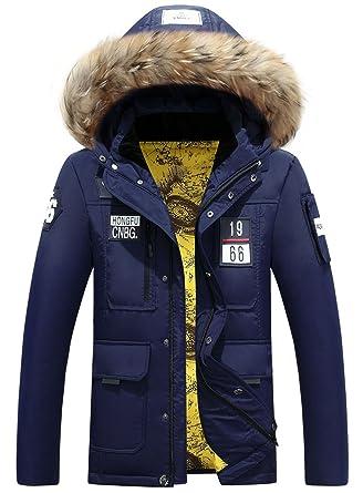 27f7eae3d871 Herren Winter Outdoor Daunenjacke Mantel Style Down Parka Steppjacken Mit Fellkapuze  Down Jacket Warme Mäntel Winterjacke