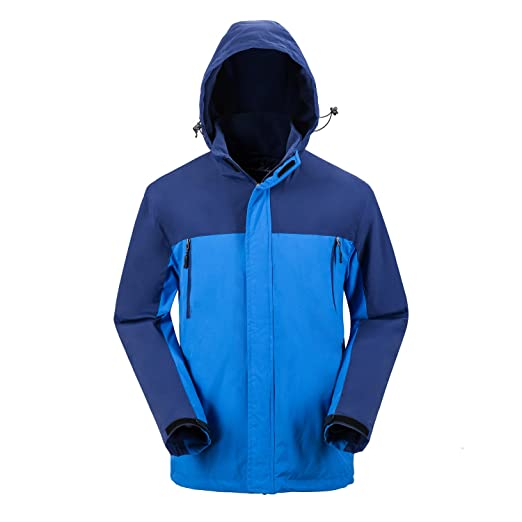 MOHEEN Mens Waterproof Ski Jacket Fleece Hoodies Winter Rain Coats Camping Hiking Snowboarding Mountaineer Travel