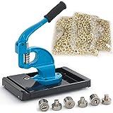 ARKSEN Hand Press Grommet Machine w/ Rolling Base & 1500 PC Brass (3) Interchangeable Die (#0 #2 #4) Eyelet Banner