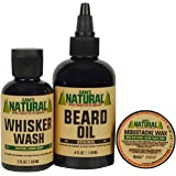 Sam's Natural Beard Pack Original - Beard Care Kit - Natural - Vegan and Cruelty Free - Top Quality Beard Care - America's Favorite