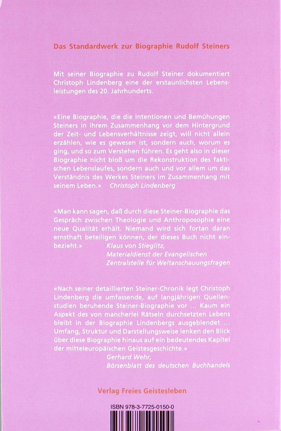 Rudolf Steiner Eine Biographie 1861 1925 Amazon Christoph