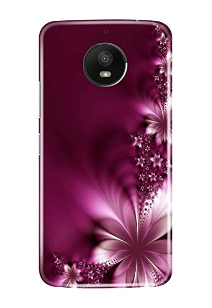 buy online a155d 66027 Hupshy Printed Back Cover For Moto G5S - Purple