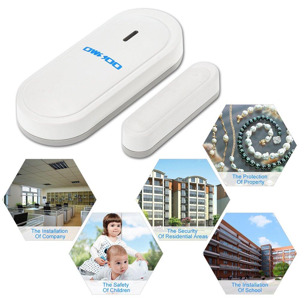 OWSOO 433MHz Wireless Magnetic Door Window Sensor Detector Suitable for Home Security Alarm System