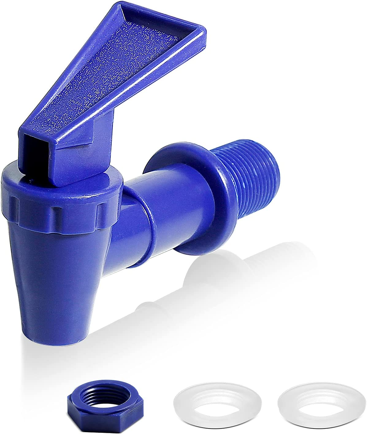 Lanzeuta 2 Sets BPA-Free Replacement Cooler Faucet, Blue Water Dispenser Tap Set, Reusable Plastic Spigot Spout Water Beverage Lever Pour Dispenser Valve Water Crock Tap