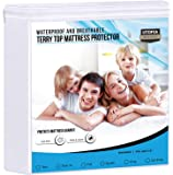 Utopia Bedding Waterproof Mattress Protector - Breathable Mattress Cover - Fitted Style All Around Elastic - Fits 15…