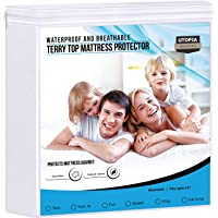 Utopia Bedding Premium Waterproof Mattress Protector - Breathable Fitted Mattress Cover (Twin XL)