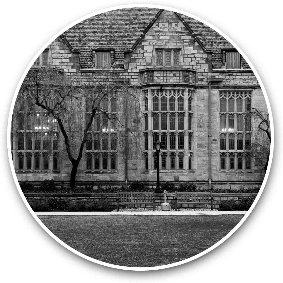 Vinyl Stickers (Set of 2) 15cm Black & White - Yale University Buildings Connecticut USA Laptop Luggage Tablet #43792