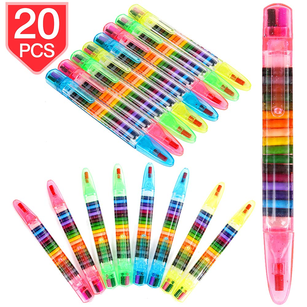 PROLOSO 20 In 1 Glitter Crayon Pens Coloring Crayons Kids Painting Crayon  Toy 20 Pcs