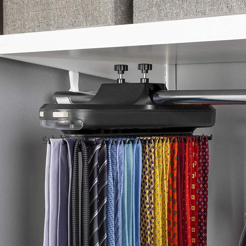 motorisierte Tie Rack Electric Tie Holder mit LED-Licht rotierenden Tie Organizer LAWARY Tie Hanger Organizer Rack