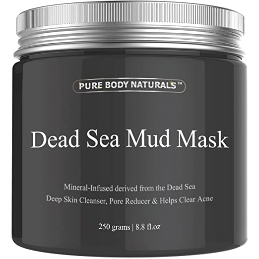 Pure Body Naturals Beauty Dead Sea Mud Mask for Facial Treatment,