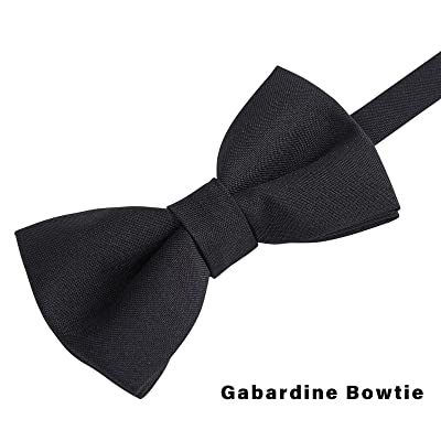 Classic Pre-Tied Bow Tie for Children /& Adults Solid Color Adjustable Bowtie(Black)