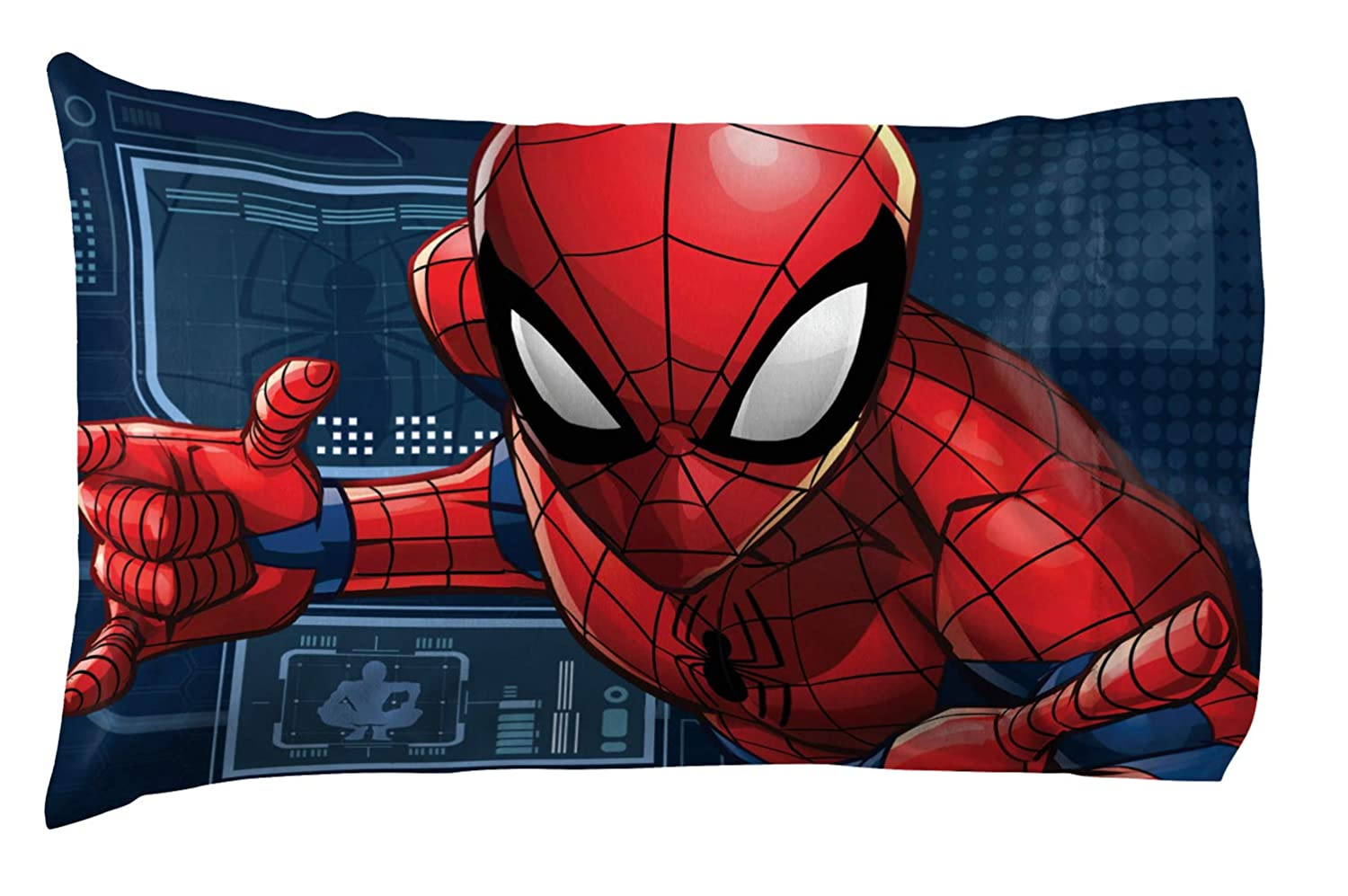 Jay Franco Marvel Spiderman 1 Pack Pillowcase - Double-Sided Kids Super Soft Bedding (Official Marvel Product)