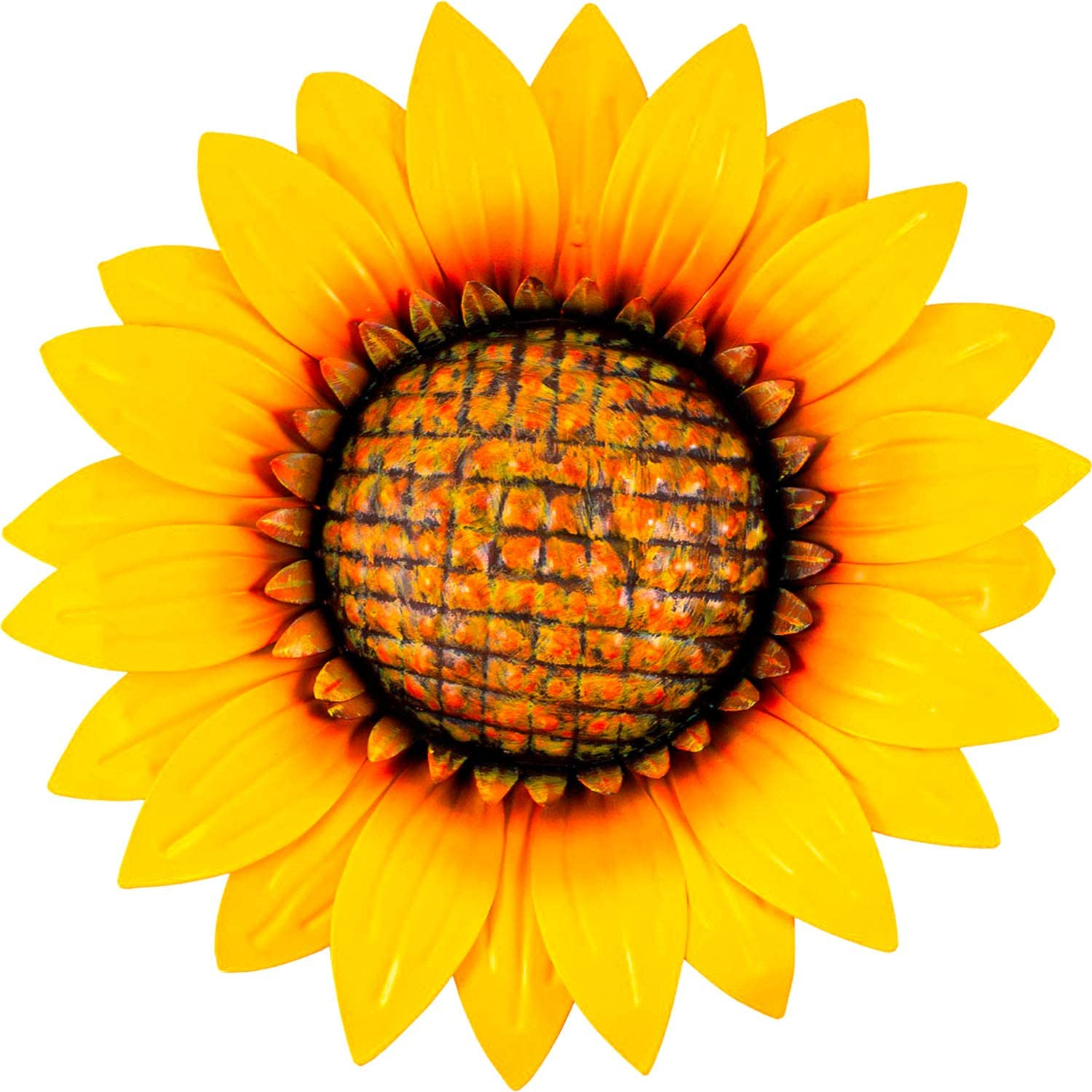Shefio Sunflower Metal Flower Decor | Yellow Decorative Wall Art for Home/Garden/Office | Metal Indoor Living Room Wall Decor | Three-Dimensional Fall Outdoor Decorations
