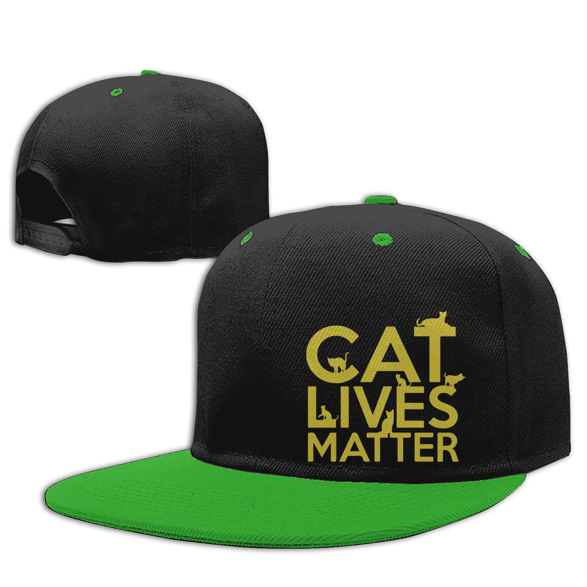 Men and Women Hiphop Cap Cat Lives Matter2 Unisex Hip-Hop Baseball Caps