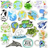 Earth Stickers Environmental Stickers Pack Waterproof Laptop Stickers for Kids Environmentalist(50 Pcs)