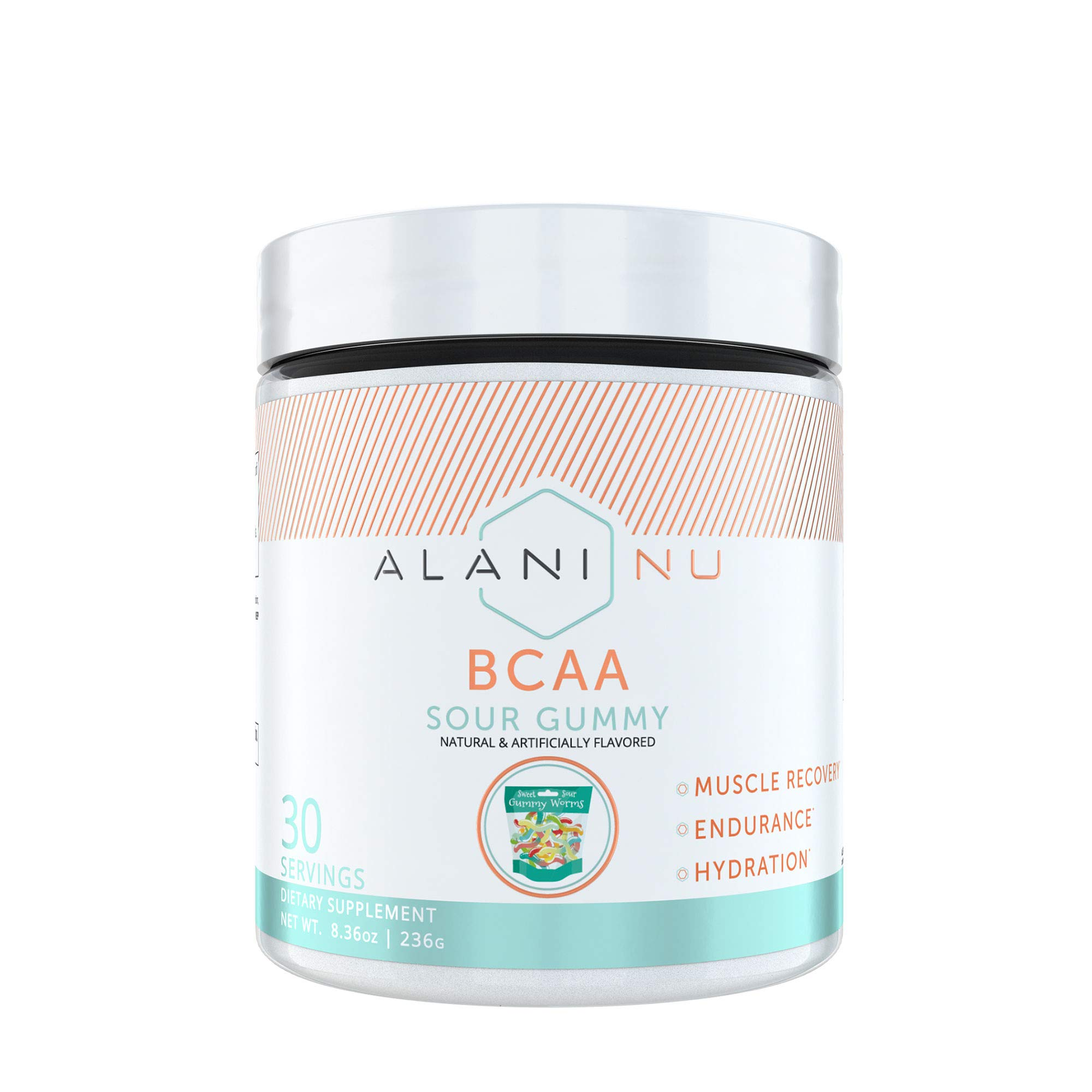 Alani Nu BCAA Branched Chain Essential Amino Acids Powder, Sour Gummy, 30 Servings