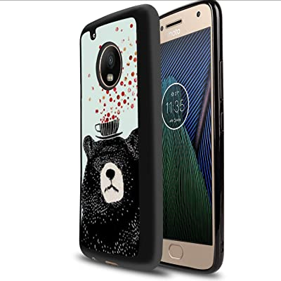 Case for Moto G5 Plus, Glossy Light Fashion Protective Cover Printing Designed