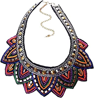 YAZILIND Fashion Rhinestone Geometric Triangle Collar Necklace Women Jewelry Gift