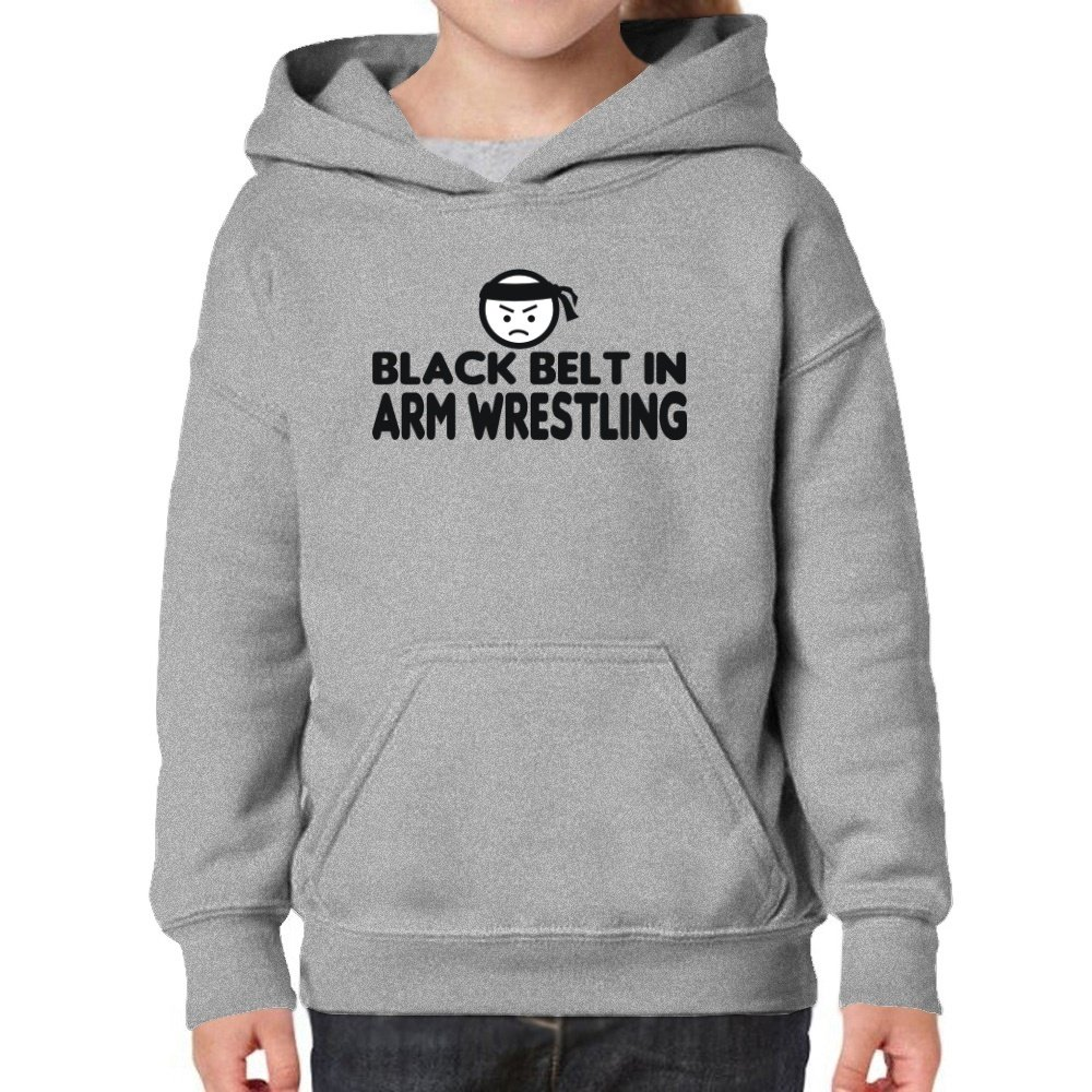 Teeburon Black Belt In Arm Wrestling Girl Hoodie by Teeburon