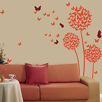 Beautiful Butterflies Wall Decal Flowers Quotes Dandelions In The Wind Wall  Art Sticker Vinyl Living Room