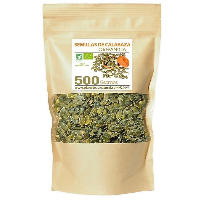 Semillas de Calabaza Orgánicas - 500g - Curcubita pepo: Amazon.es ...