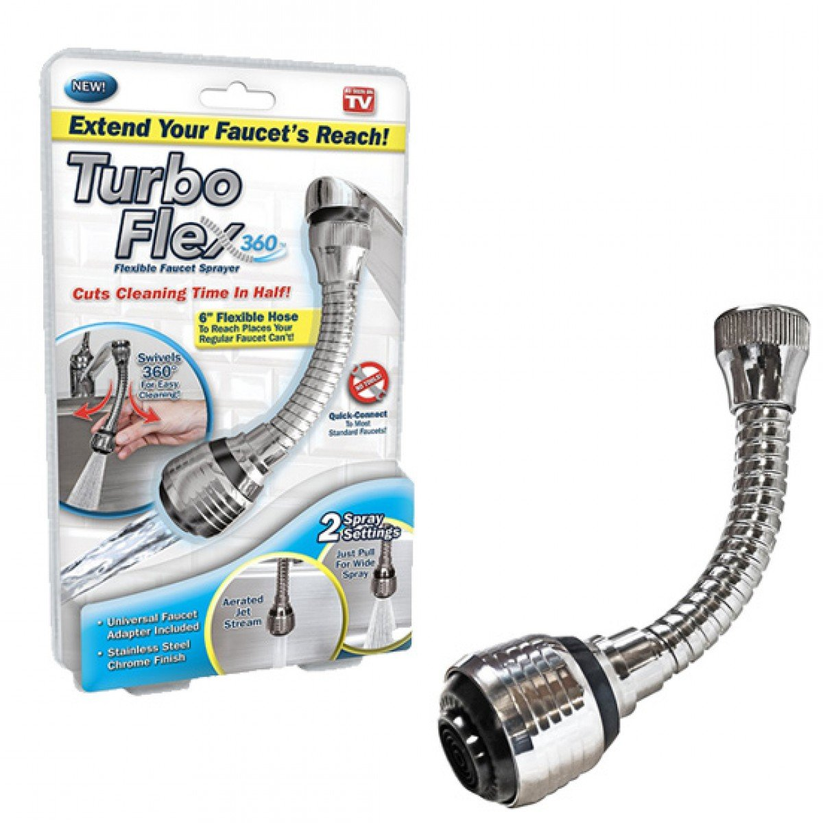Homemax Tap Faucet Extension Flexi Hose for Basins by Homemax (Image #4)