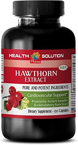 Metabolism Booster for Weight Loss – Hawthorn Berry 665MG – Pure and Potent Ingredients – Cardiovascular Support – Hawthorne Extract – 1 Bottle 120 Capsules