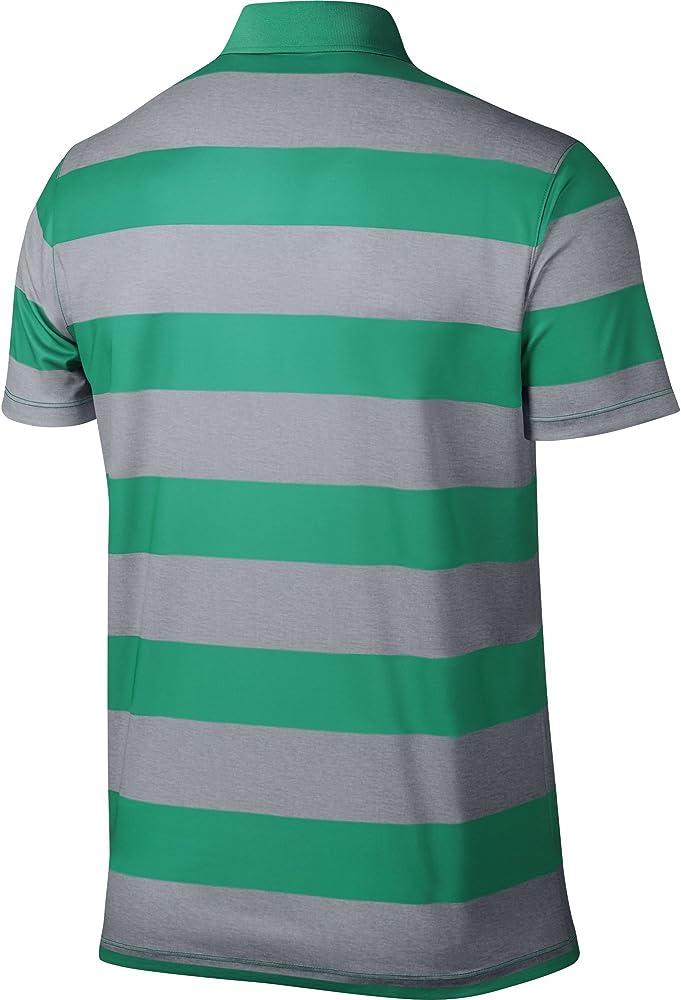 Nike Golf Victoria - Polo de rayas, Carga verde azulado/negro ...