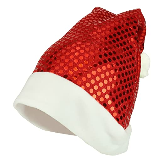 a5d61eea3bd Armycrew Christmas Twinkle Sequin Red Santa Claus Bling Sparkle Hat - Santa