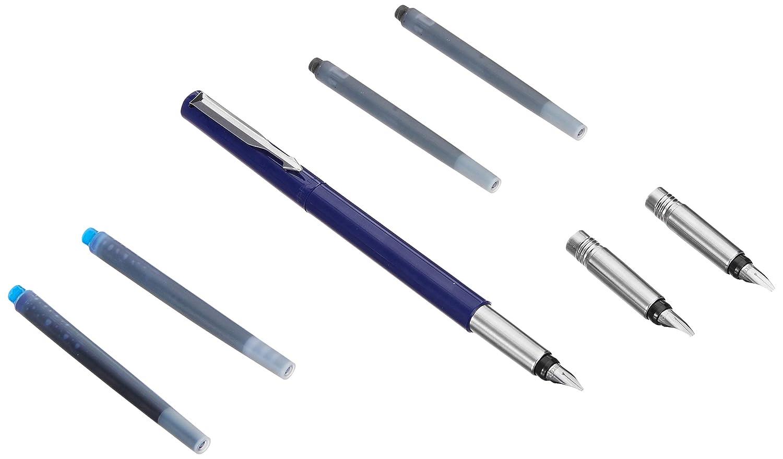 Parker Vector Standard CT Fountain Pen Black Body Free 3 Black 1 Blue 1//2018