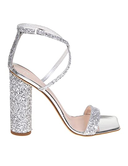 e40aecd9c Giuseppe Zanotti Design Women s E900079003 Silver Leather Sandals ...
