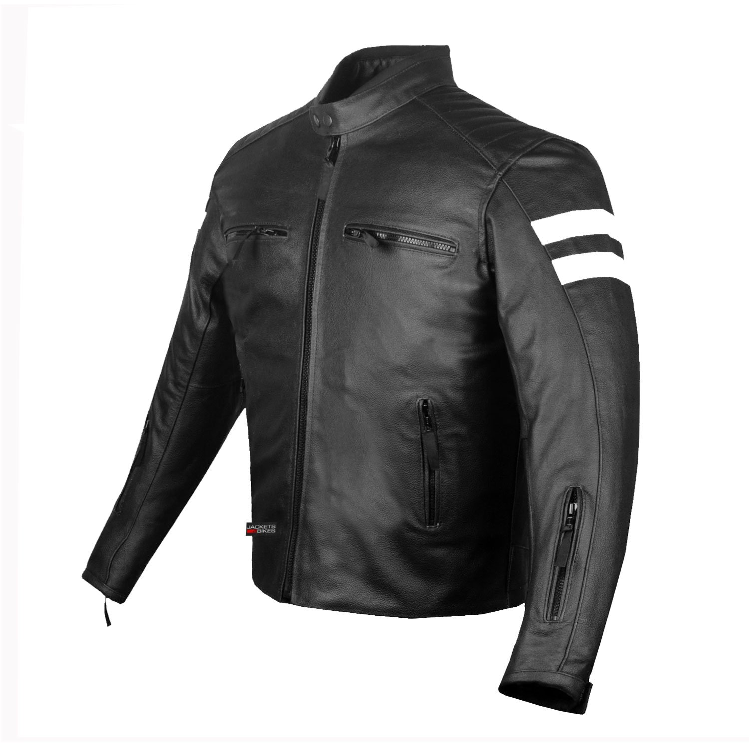 New AXE Men's Leather Jacket Motorcycle Armor biker safety S by Jackets 4 Bikes