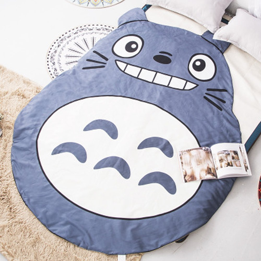 Koongso 3D Animal Prints Blanket Bedding Cat Shaped Summer Quilt Totoro Comforter Washable Light Quilt