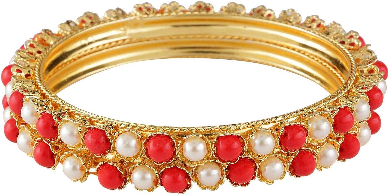 Efulgenz Indian Style Bollywood Traditional 14 K Gold Plated Wedding Bridal Bracelet Bangle Set Jewelry