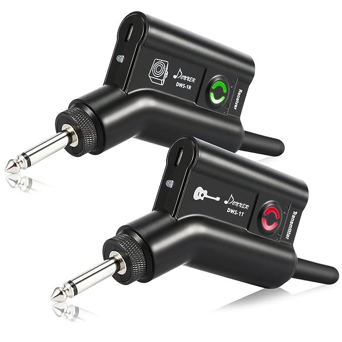 Donner - Sistema inalámbrico de transmisor y receptor digital de audio con batería recargable DWS-1 para guitarra y bajo: Amazon.es: Instrumentos musicales