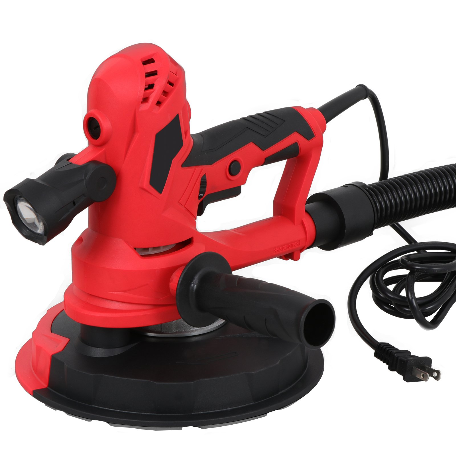 F2C 750W Hand Held Variable Speeds Vacuum Drywall Disc Sander W/LED Light, 6 Discs,2 Carbon Brushes & Carrying Dust Bag, 800RMP to 2,500RMP