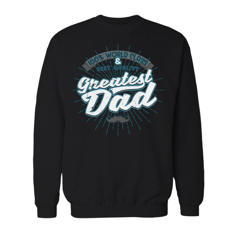 Fashionalarm Herren Sweatshirt - 100% World Class Greatest Dad   Fun Pullover mit Spruch als Geburtstag Geschenk Idee & für Vatertag Bester Papa